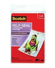 Scotch Self Sealing Laminating Pouches Glossy Finish 4 38 X 6 38 Inches 5