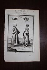 ✒ 1683 MANESSON MALLET type turc homme & femme Istanbul Constantinople TURQUIE