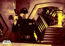 Star Wars ANH Black & White red parallel card, #79 Imperial Defence, 07/10