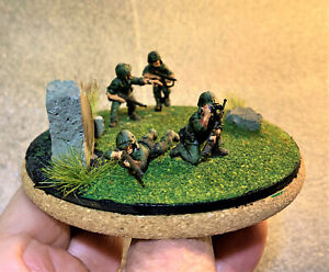 WW 2 Mini Diorama 28mm(1/56) US Marines (Warlord Games) Hand Painted
