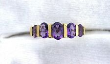 10Kt REAL Yellow Gold Amethyst Gem Stone Gemstone Ladies Fashion Ring ES199R60