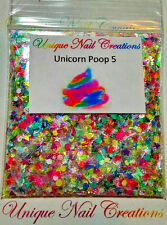 Limited Edition Glitter Mix~UNICORN POOP 5* Comes W Alloy~ Nail Art