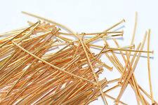 50x Kettelstift Prismenstift Nietstift antik gold, Länge 54 mm x Ø1 mm, Schmuck