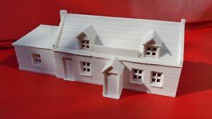 N Gauge Public House Country Pub Building 1800s 3D Printed White