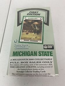Michigan State Spartans MSU All Time Greats -First Edition Trading Cards Box NEW