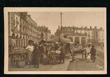 France Normandy DIEPPE Marche aux legumes vegetable Market PPC used c1929
