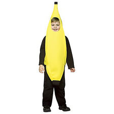 YELLOW BANANA COMICAL CHILD HALLOWEEN COSTUME UNISEX CHILD SIZE SMALL 4-6X