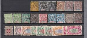 FRENCH AFRICA REUNION COLLECTION OF MINT/USED STAMPS INC OVERPRINTS 417