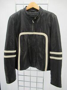 I1851 VTG Women's Wilsons Leather Maxima Motorcycle Jacket Size L