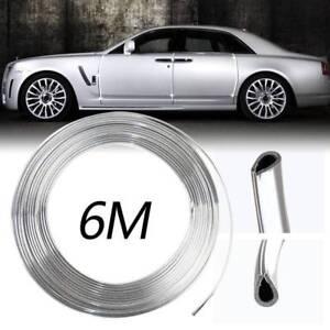 6M Chrome Moulding Trim Strip Auto Door Guard Decorative Cover Universal