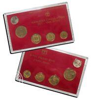Israel Official New Sheqel Hanukka Mint Coins Set 1989 Uncirculated