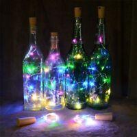 LED Light Wine Bottle Copper Wire String light Cork bulb Festival Party Decor