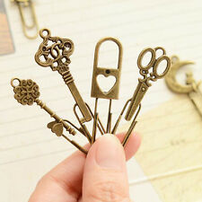 High Quality 10 Piece Bookmarks Metal Paper Clip Kid Student New Gift Prize Clip