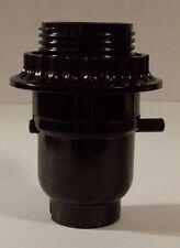 BLACK PHENOLIC PUSH THRU THREADED LAMP SOCKET WITH RING LAMP PART NEW 30549J