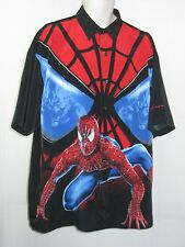 SPIDER-MAN   Graphic Button Shirt S/L XL NWOT