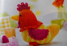 CROCHET PATTERN Cluck The Easter Chicken & Eggs Toy Doll Children PATTERN