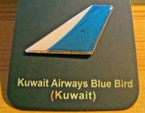 KUWAIT AIRWAYS AIRLINE  (KUWAIT) BLUE BIRD LOGO TAIL PIN BADGE