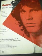 The DOORS Greatest ...captures genius of JIM MORRISON 1980 Promo Poster Ad mint