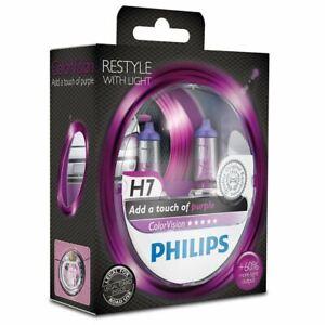 2x Violet H7 Ampoule de phare PHILIPS 12972CVPGS2 ColorVision 12V 55W PX26d