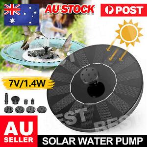 Bird Bath Floating Solar Fountain Pump Water Panel Power Kit Pool Garden Pond