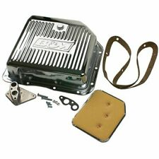 B&M 30289 Chrome-Plated Steel Deep Transmission Pan
