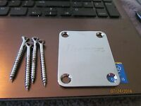 Ibanez Electric guitar neckplate guitar parts Chrome w/screws GAX 70 Rg series