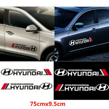 1 Pair Car Emblem Decal for Hyundai Motors Sports Racing Auto Body Badge Sticker