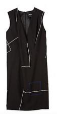 $169 Country road shift print wrap white black v geometric dress 4 6 8 XXS XS S