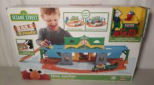 Sesame Street Rails & Roads Elmo Junction Train Set Railroad Playskool