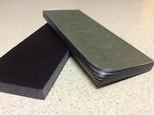 BLACK AND GREY PAPER MICARTA KNIFE HANDLE SCALE BLANKS 3/8 .375