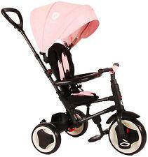 Kinder-Dreirad QPlay Rito Deluxe Rosa klappbar UV-Dach Freilauf Lenkstange *NEU