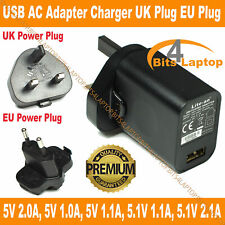WALL AC TO USB PORT POWER SUPPLY  5 V FIVE VOLT 2 A TWO AMP ADAPTER CHARGER