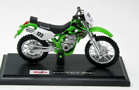 Modell 1:18 Motorrad  Kawasaki KLX -250 SR   grün weiss  Maisto 39300