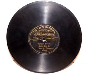 """RARE Antique 7"""" 1st VICTOR RECORD A-155 Phonograph Gramophone 1901"""