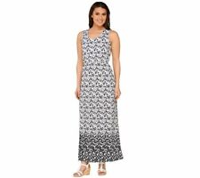 Liz Claiborne Sleeveless Scoop Neck Cotton Dress in Jade Size PXS