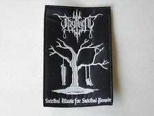 THY LIGHT DEPRESSIVE BLACK METAL EMBROIDERED PATCH