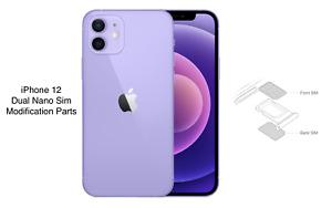 Apple iPhone 12 Physical Dual Sim Modification A2404 A2172 Two Nano SIM card OEM