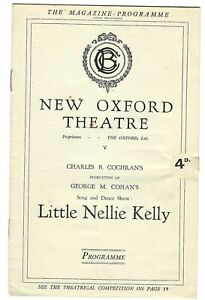 1923 George M Cohan musical theatre programme Little Nellie Kelly London