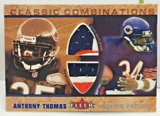 Walter Payton / Anthony Thomas 2002 Fleer Dual 3 color GU Patch #'d/100 - BEARS