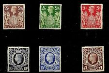1939-48 (686) SG476-478C HIGH VALUES 2/6-£1.00 6 STAMPS UNMOUNTED MINT PERFECT