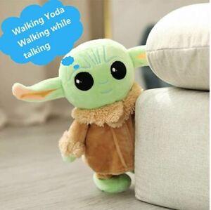 "2021 Walking Talking  Baby Yoda Plush Stuffed Toy 8"""