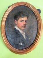 August Groh (1871-1944) -  Seltenes Selbstportrait datiert 1892