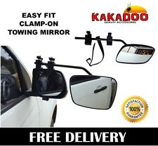 TOWING MIRROR HEAVY DUTY MULTI FIT CLAMP ON TOWING CARAVAN 4X4 TRAILER