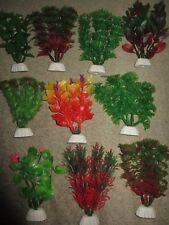 "10X Aquarium Plastic Plants Ornament Small 5"" to 6"" inch   Bulk Buy lot 17"