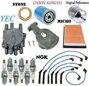 Tune Up Kit Plugs Cap Rotors Filters FIT Infiniti M30 V6; 3.0L 1990-1992