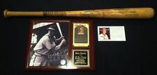 STAN MUSIAL model BB bat inscribed Yale University & Plaque w/ Signed Stat Card
