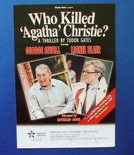 THEATRE FLYER WHO KILLED AGATHA CHRISTIE SIGNED BY LIONEL BLAIR