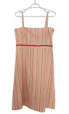 CLAUDIE PIERLOT Strappy Striped Summer Sun Dress 100% Cotton Size FR T3/ 40 /L