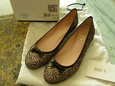 RED by Valentino Ladie's Flats Shoes Sz. 37 7 US Glitter Sparkle NEW w/ Box $295
