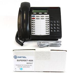 Mitel Superset 4025 Backlit Dark Grey Charcoal Phone - Bulk (9132-025-202)